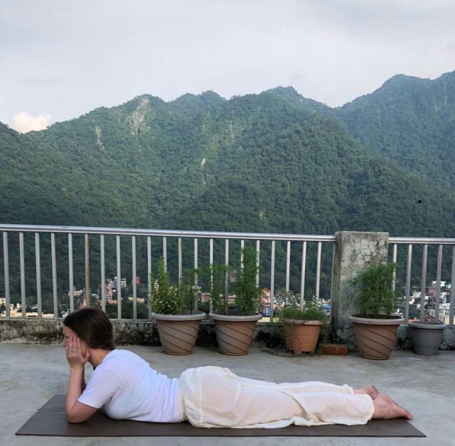 Yoga Teacher Training in Rishikesh - Makarasana