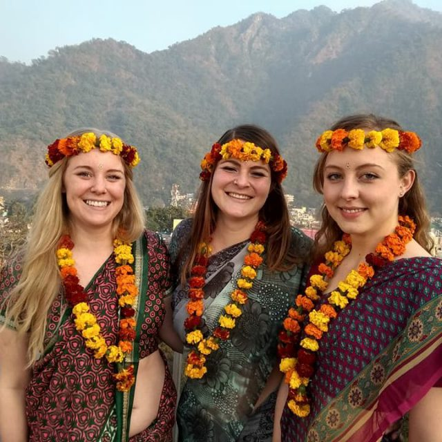 Yoga Teachers in Indian Outfit