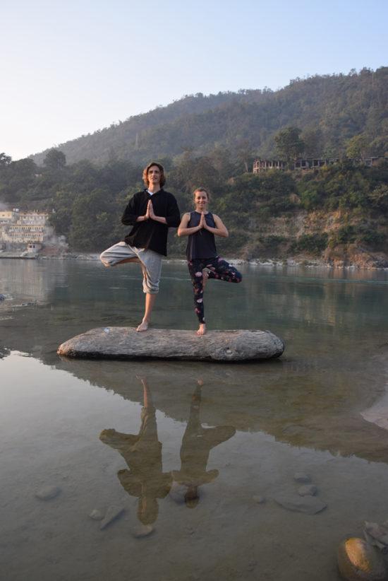 Yoga Asana Pose Mid River