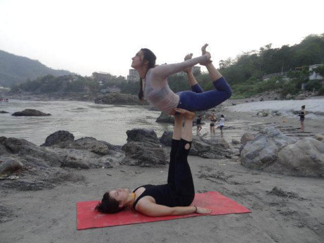 Group Yoga Practices at Ganga