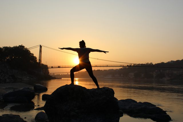 Yoga Practice at Ganga