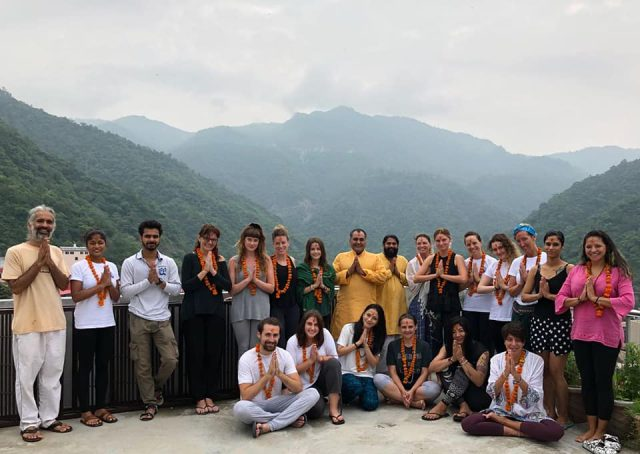 Yoga Teachers with Nature